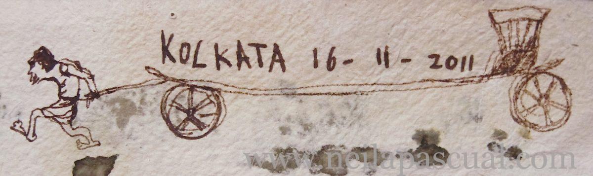 Detalle reverso postal Kolkata