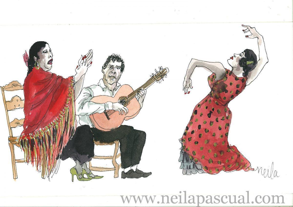 Flamenco a tres