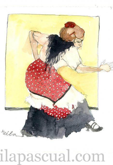 Postal Flamenca 1