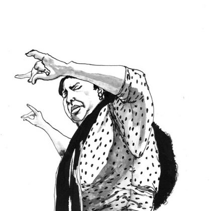 Flamenco Blanco y negro